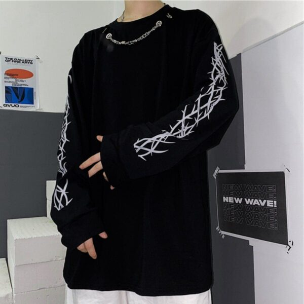 Sleeve Thorns Grunge Aesthetic Top 3- Orezoria Aesthetic Outfits Shop - Aesthetic Clothing - eGirl Outfits - Soft Girl Outfits