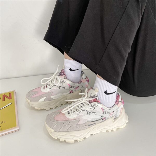 Soft Beige Artist Sneakers Sketch Aesthetic 1- Orezoria Aesthetic Outfits Shop - eGirl Outfits - Soft Girl Outfits