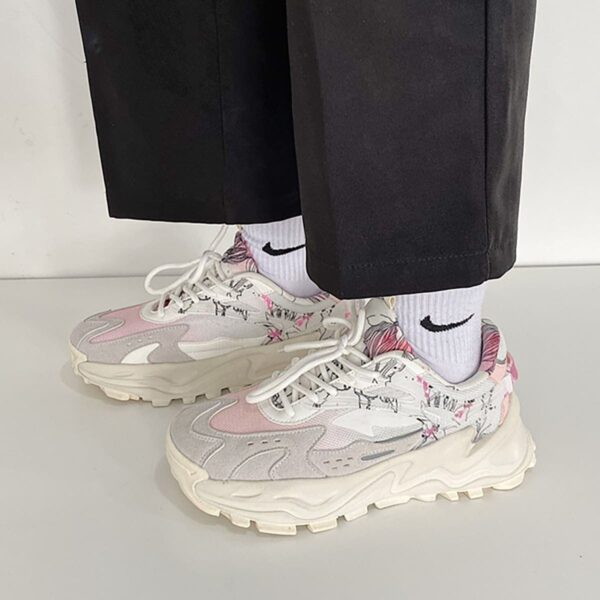 Soft Beige Artist Sneakers Sketch Aesthetic 2- Orezoria Aesthetic Outfits Shop - eGirl Outfits - Soft Girl Outfits