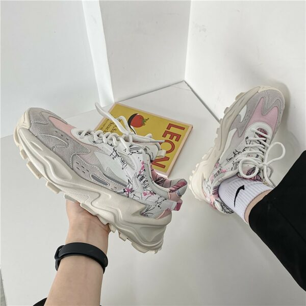 Soft Beige Artist Sneakers Sketch Aesthetic 3- Orezoria Aesthetic Outfits Shop - eGirl Outfits - Soft Girl Outfits