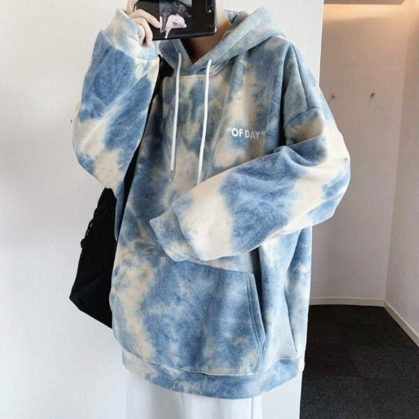 Soft Cloudy Tie-Dye Oversized Hoodie 4- Orezoria Aesthetic Outfits Shop - eGirl Outfits - Soft Girl Outfits