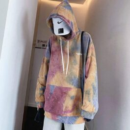 Soft Cloudy Tie-Dye Oversized Hoodie 5- Orezoria Aesthetic Outfits Shop - eGirl Outfits - Soft Girl Outfits