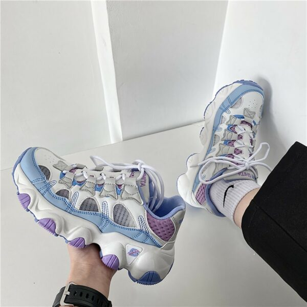 Soft Girl Pastel Retro Style Running Sneakers 1- Orezoria Aesthetic Outfits Shop - eGirl Outfits - Soft Girl Outfits