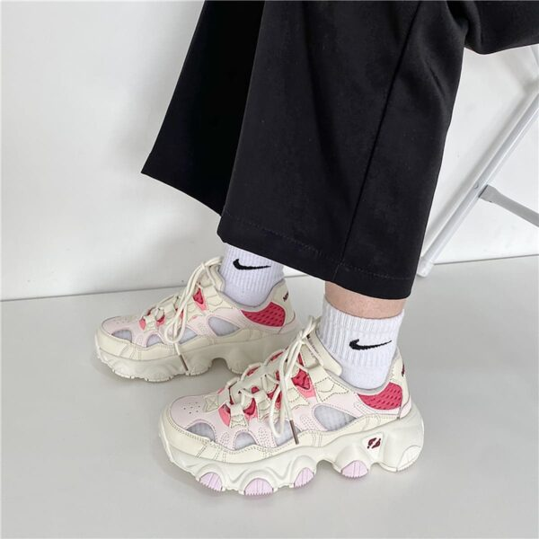 Soft Girl Pastel Retro Style Running Sneakers 2- Orezoria Aesthetic Outfits Shop - eGirl Outfits - Soft Girl Outfits