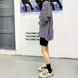 Striped Oversized EGirl Long Sleeve 4- Orezoria Aesthetic Outfits Shop - Aesthetic Clothing - eGirl Outfits - Soft Girl Outfits