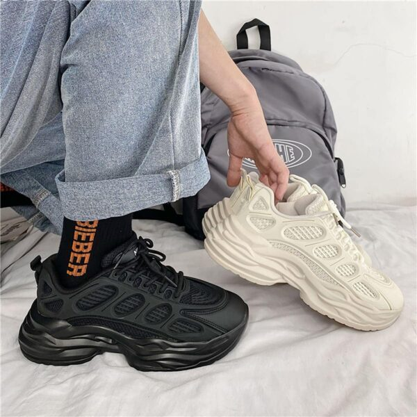 Thick Wavy Bottom Retro Aesthetic Sneakers 1- Orezoria Aesthetic Outfits Shop - eGirl Outfits - Soft Girl Outfits