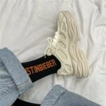 Thick Wavy Bottom Retro Aesthetic Sneakers 4- Orezoria Aesthetic Outfits Shop - eGirl Outfits - Soft Girl Outfits