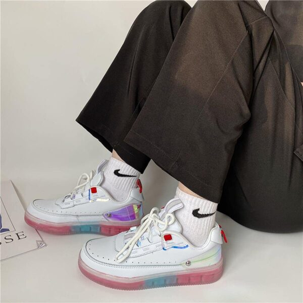 Transparent Gum Base Holographic Heel Retro Sneakers 3- Orezoria Aesthetic Outfits Shop - eGirl Outfits - Soft Girl Outfits