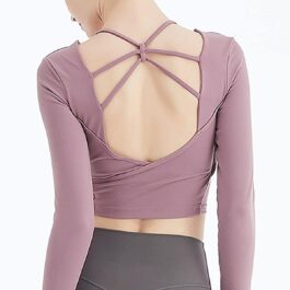 Yoghurt Pink Backless Gym Yoga Top 2- Orezoria Aesthetic Outfits Shop - eGirl Outfits - Soft Girl Outfits