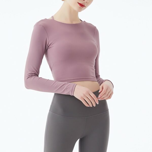 Yoghurt Pink Backless Gym Yoga Top 3- Orezoria Aesthetic Outfits Shop - eGirl Outfits - Soft Girl Outfits