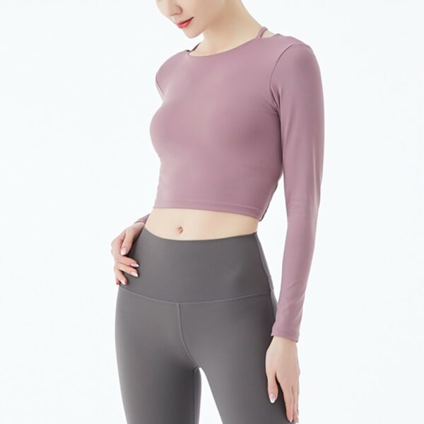 Yoghurt Pink Backless Gym Yoga Top 4- Orezoria Aesthetic Outfits Shop - eGirl Outfits - Soft Girl Outfits