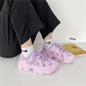 Yoghurt Pink Soft GIrl Sneakers Bubble Aesthetic 2- Orezoria Aesthetic Outfits Shop - eGirl Outfits - Soft Girl Outfits