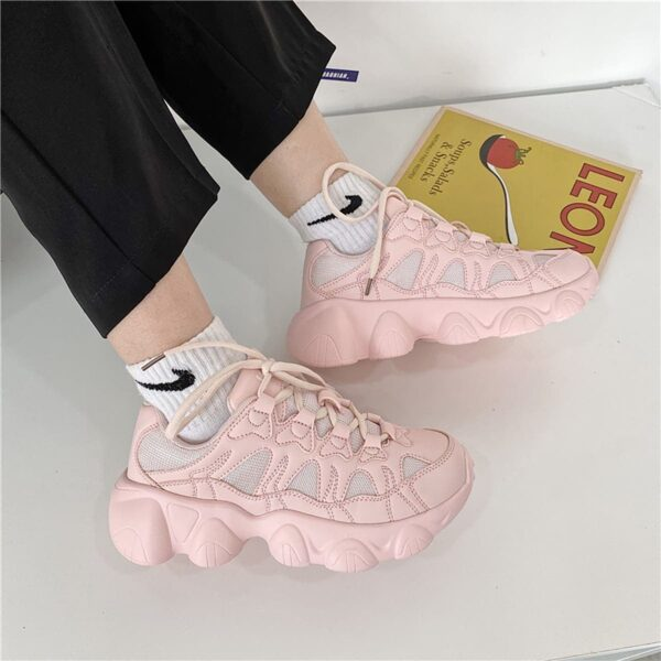 Yoghurt Pink Soft GIrl Sneakers Bubble Aesthetic 3- Orezoria Aesthetic Outfits Shop - eGirl Outfits - Soft Girl Outfits
