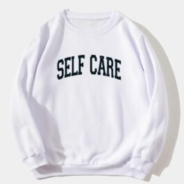 Self Care White Aesthetic Hoodie - Orezoria Aesthetic Outfits Shop - Aesthetic Clothing - eGirl Outfits - Soft Girl Outfits.psd