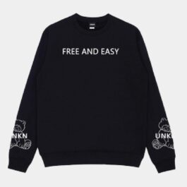 Free and Easy Unknown Korean Sweatshirt - Orezoria Aesthetic Outfits Shop - Aesthetic Clothing - eGirl Outfits - Soft Girl Outfits.psd