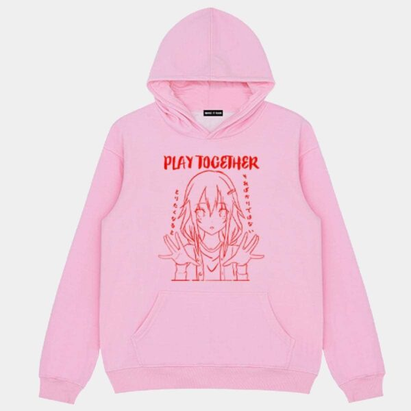 Play Together Anime Girl Hoodie - Orezoria Aesthetic Outfits Shop - Aesthetic Clothing - eGirl Outfits - Soft Girl Outfits.psd