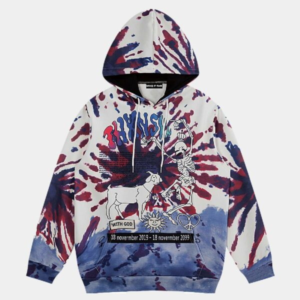 Psychedelic Goat Retro Hoodie - Orezoria Aesthetic Outfits Shop - Aesthetic Clothing - eGirl Outfits - Soft Girl Outfits.psd