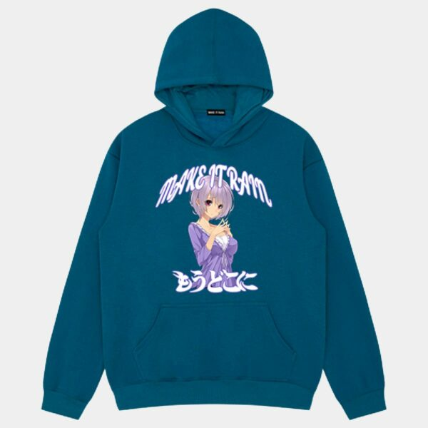 Shy Anime Girl Loose Hoodie - Orezoria Aesthetic Outfits Shop - Aesthetic Clothing - eGirl Outfits - Soft Girl Outfits.psd