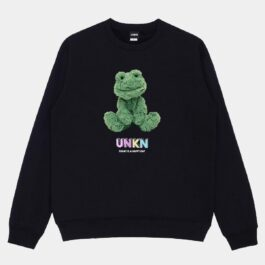 Fluffy Green Frog Unisex Sweatshirt - Orezoria Aesthetic Outfits Shop - Aesthetic Clothing - eGirl Outfits - Soft Girl Outfits.psd