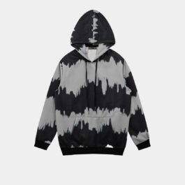 Monochrome Lined Tie Dye Hoodie - Orezoria Aesthetic Outfits Shop - Aesthetic Clothing - eGirl Outfits - Soft Girl Outfits.psd