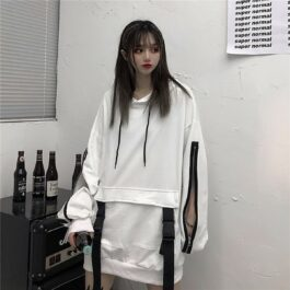 45 Zip Sleeves Techwear Aesthetic Hoodie - Orezoria Aesthetic Outfits Shop - Aesthetic Clothing - eGirl Outfits - Soft Girl Outfits.psd