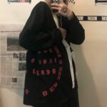 Gothic Font Side Spell Long Sleeve - Orezoria Aesthetic Outfits Shop - Aesthetic Clothing - eGirl Outfits - Soft Girl
