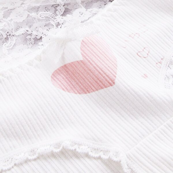 5 Pair Set Heart Cute Aesthetic Panties (5)- Orezoria Aesthetic Outfits Shop - Aesthetic Clothing - eGirl Outfits - Soft Girl Outfits