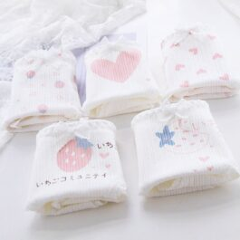 5 Pair Set Heart Cute Aesthetic Panties (7)- Orezoria Aesthetic Outfits Shop - Aesthetic Clothing - eGirl Outfits - Soft Girl Outfits