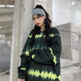 Acid Sound Waves Grunge Sweetshirt 1- Orezoria Aesthetic Outfits Shop - Aesthetic Clothing - eGirl Outfits - Soft Girl Outfits
