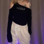 Acidity One Shoulder Baddie Top - Orezoria Aesthetic Outfits Shop - Aesthetic Clothing - eGirl Outfits - Soft Girl (