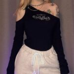 Acidity One Shoulder Baddie Top - Orezoria Aesthetic Outfits Shop - Aesthetic Clothing - eGirl Outfits - Soft Girl