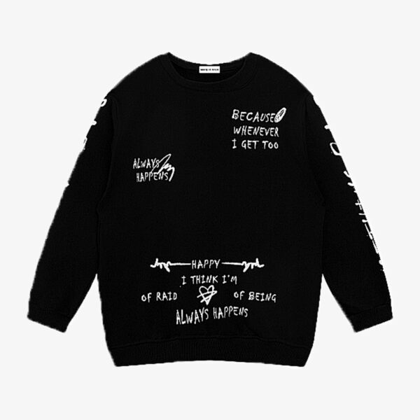 Always Happens Mind Core Sweatshirt 1- Orezoria Aesthetic Outfits Shop - Aesthetic Clothing - eGirl Outfits - Soft Girl Outfits