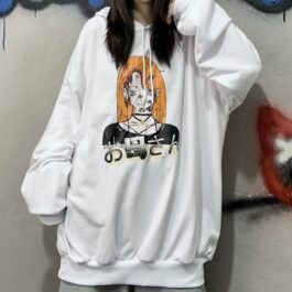 Anime Junkie Oversized Hoodie 4- Orezoria Aesthetic Outfits Shop - Aesthetic Clothing - eGirl Outfits - Soft Girl Outfits