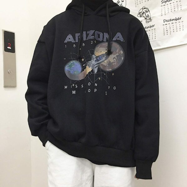 Arizona Space Shuttle Unisex Hoodie 1- Orezoria Aesthetic Outfits Shop - Aesthetic Clothing - eGirl Outfits - Soft Girl Outfits