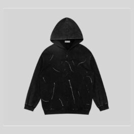 Artistic Paint Splash Washed Hoodie 1 -Orezoria Aesthetic Outfits Shop - Aesthetic Clothing - eGerl Outfits Soft Gerl Outfits.spd