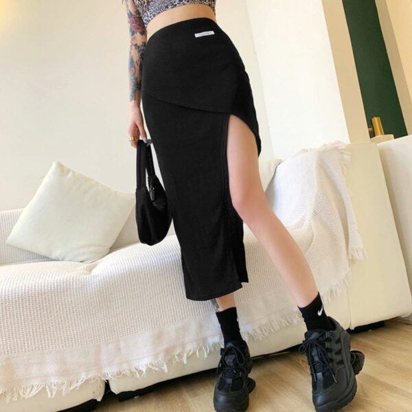 Asymmetric Slim Fit High Waist Skirt (1) - Orezoria Aesthetic Outfits Shop - Aesthetic Clothing - eGirl Outfits - Soft Girl Outfits.psd