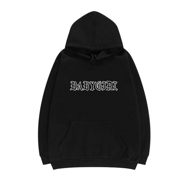 Baby Girl Goth Font Aesthetic Hoodie - Orezoria Aesthetic Outfits Shop - Aesthetic Clothing - eGirl Outfits - Soft Girl Outfits.psd