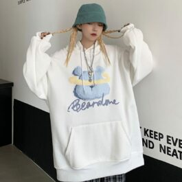 Bear Done Kawaii Aesthetic Hoodie.1- Orezoria Aesthetic Outfits Shop - Aesthetic Clothing - eGirl Outfits - Soft Girl Outfits