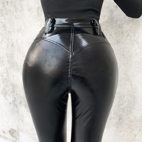 Black Core High Waisted Snake Skin Pants 3- Orezoria Aesthetic Outfits Shop - Aesthetic Clothing - eGirl Outfits - Soft Girl Outfits