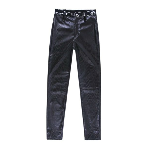 Black Core High Waisted Snake Skin Pants 4- Orezoria Aesthetic Outfits Shop - Aesthetic Clothing - eGirl Outfits - Soft Girl Outfits