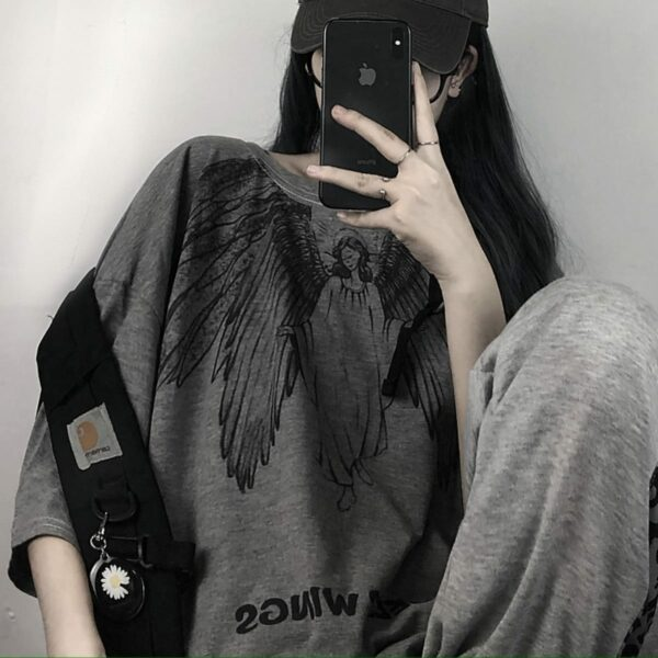 Blind Angel Korean Grunge T-Shirt 1- Orezoria Aesthetic Outfits Shop - Aesthetic Clothing - eGirl Outfits - Soft Girl Outfits
