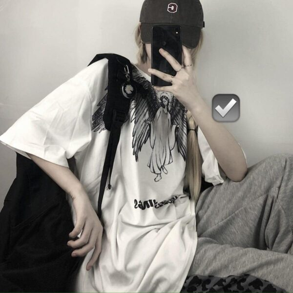 Blind Angel Korean Grunge T-Shirt 3- Orezoria Aesthetic Outfits Shop - Aesthetic Clothing - eGirl Outfits - Soft Girl Outfits