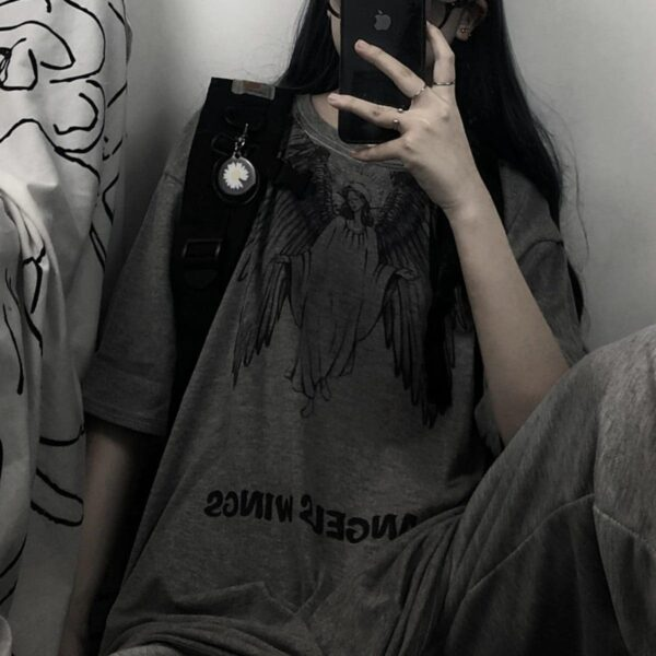 Blind Angel Korean Grunge T-Shirt 4- Orezoria Aesthetic Outfits Shop - Aesthetic Clothing - eGirl Outfits - Soft Girl Outfits