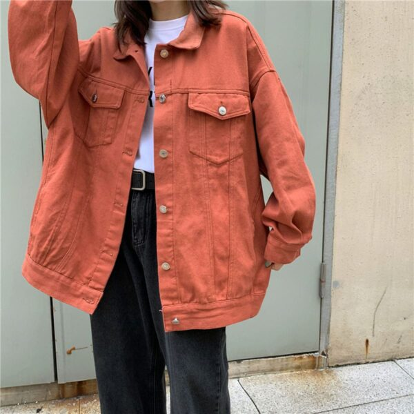 Bright Oversized Korean Denim Jacket.1- Orezoria Aesthetic Outfits Shop - Aesthetic Clothing - eGirl Outfits - Soft Girl Outfits