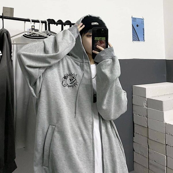 Cartoon Bomb Jack Oversized Hoodie 1 - Orezoria Aesthetic Outfits Shop - Aesthetic Clothing - eGirl Outfits - Soft Girl Outfits