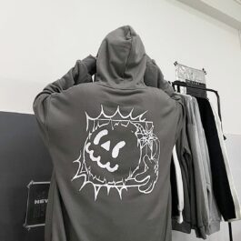 Cartoon Bomb Jack Oversized Hoodie 2 - Orezoria Aesthetic Outfits Shop - Aesthetic Clothing - eGirl Outfits - Soft Girl Outfits