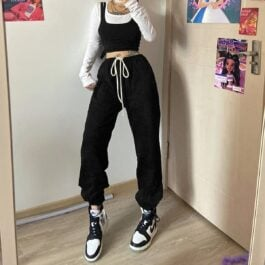 Casual Loose Hip-Hop Pants 1- Orezoria Aesthetic Outfits Shop - Aesthetic Clothing - eGirl Outfits - Soft Girl Outfits