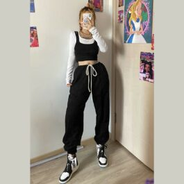 Casual Loose Hip-Hop Pants 2- Orezoria Aesthetic Outfits Shop - Aesthetic Clothing - eGirl Outfits - Soft Girl Outfits