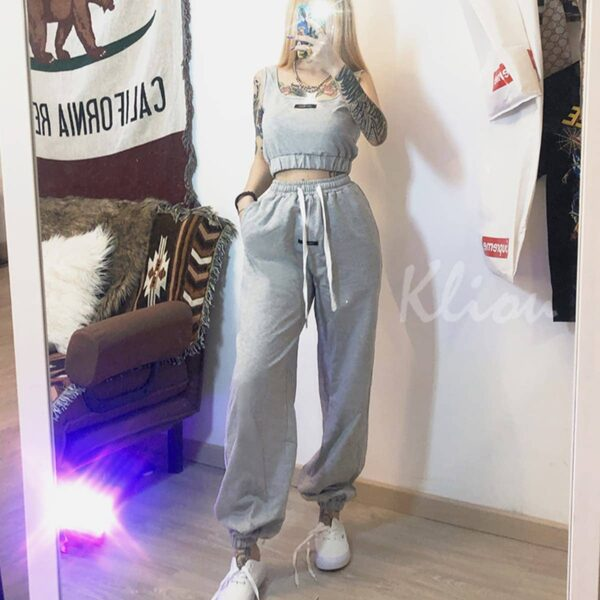 Casual Loose Sport Sweatpants 2 - Orezoria Aesthetic Outfits Shop - Aesthetic Clothing - eGirl Outfits - Soft Girl Outfits.psd