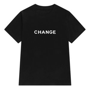 Change Letters Print Aesthetic T-Shirt (2)- Orezoria Aesthetic Outfits Shop - Aesthetic Clothing - eGirl Outfits - Soft Girl Outfits